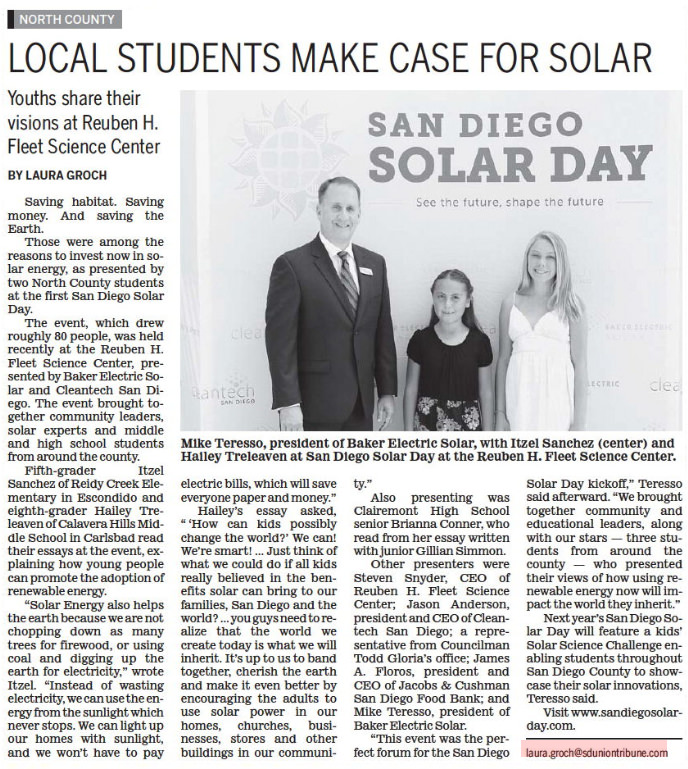 Local Students Make Case For Solar